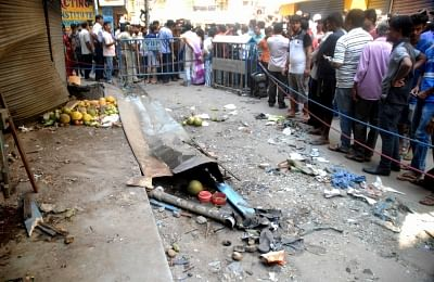 Dum Dum:  The site of an explosion, in Dum Dum, West Bengal, on Oct 2, 2018. An eight-year-old boy was killed and at least nine persons were injured in a crude bomb blast in Dumdum in West Bengal