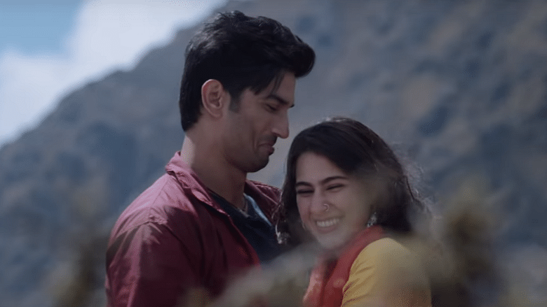Sushant Singh Rajput and Sara Ali Khan in a still from <i>Kedarnath</i>.