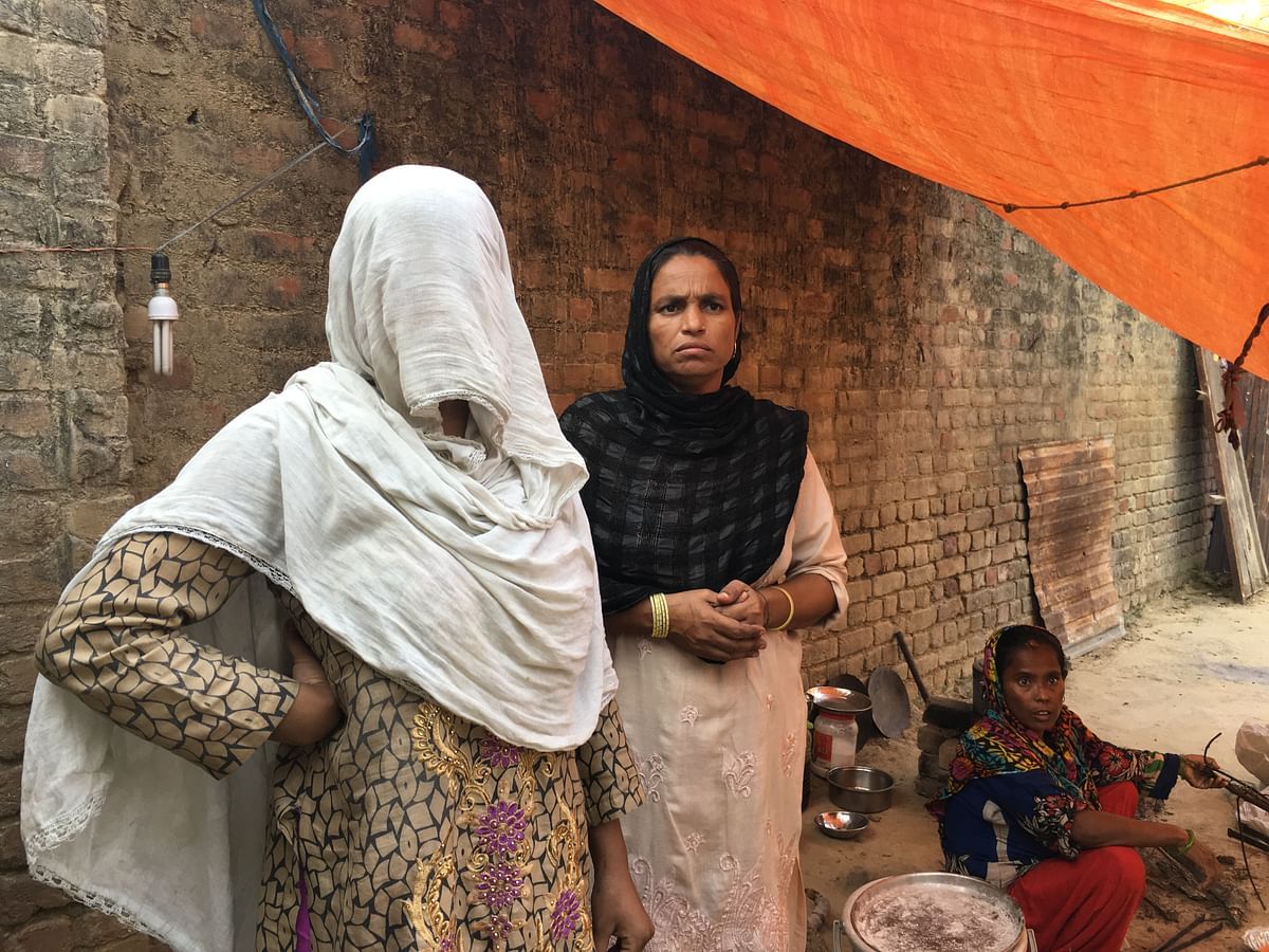 Mustakeem's wife and Naushad's mother at their rented residence in Atrauli.
