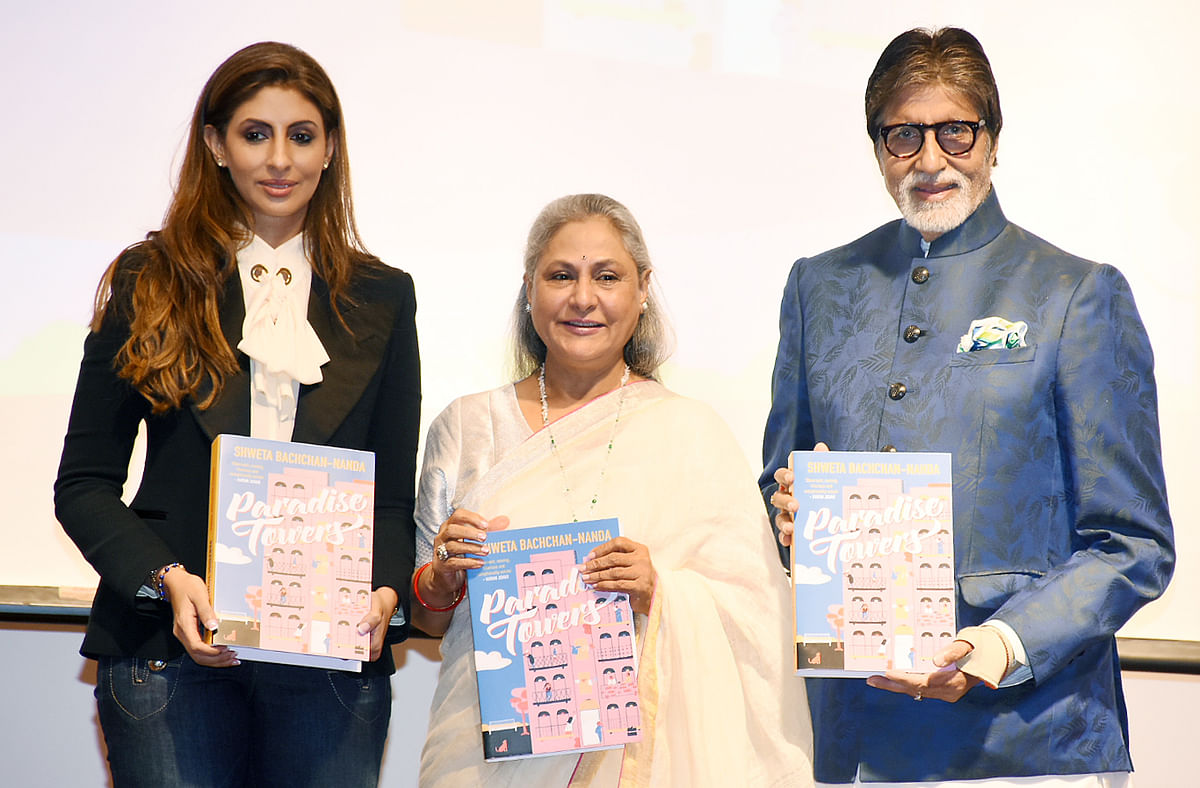 The Bachchans launch the book.