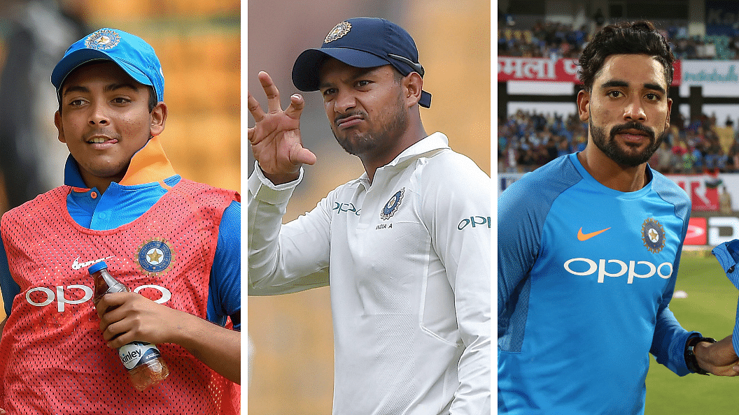 Mayank, Prithvi, Siraj: Form Guide of Team India's New Recruits