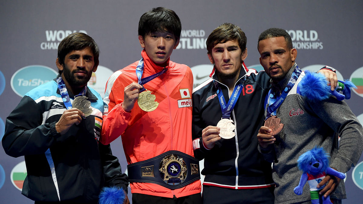 Bajrang Punia bagged a silver at the World Wrestling Championships.