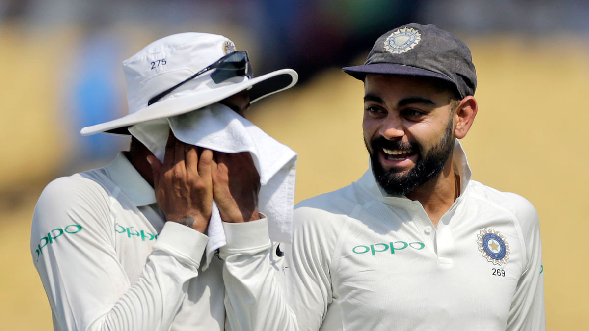 Team India has announced an unchanged playing eleven for the second Test against West Indies, starting 12 October in Hyderabad.