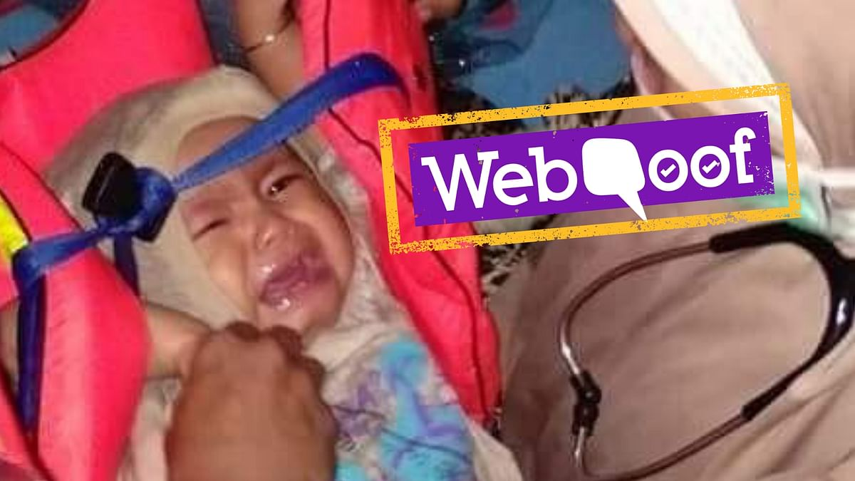 WebQoof: Viral Pic of Baby 'Rescued' From Lion Air Crash is Fake