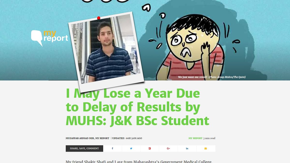 Quint's My Report Impact: MUHS Declares Result of J&K BSc Students