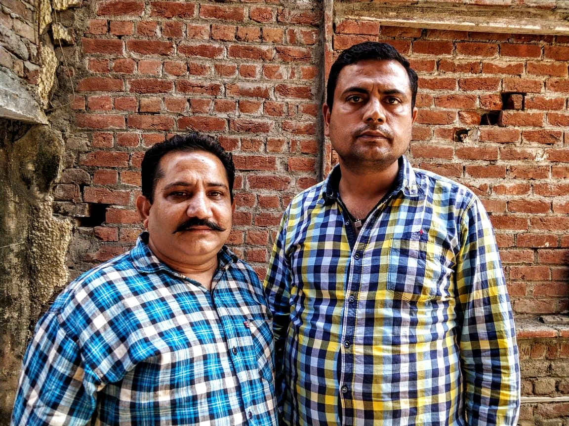 Kuldeep Singh (left) and Vishal Anand are neighbours. Theirs is the lane where the man who played Ravana in the Ramleela, Dalbir, was killed.