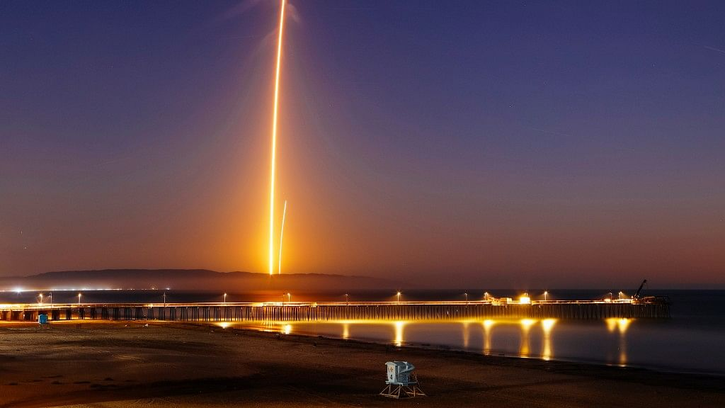 SpaceX Falcon 9 Rocket Takes Off Successfully With a Satellite