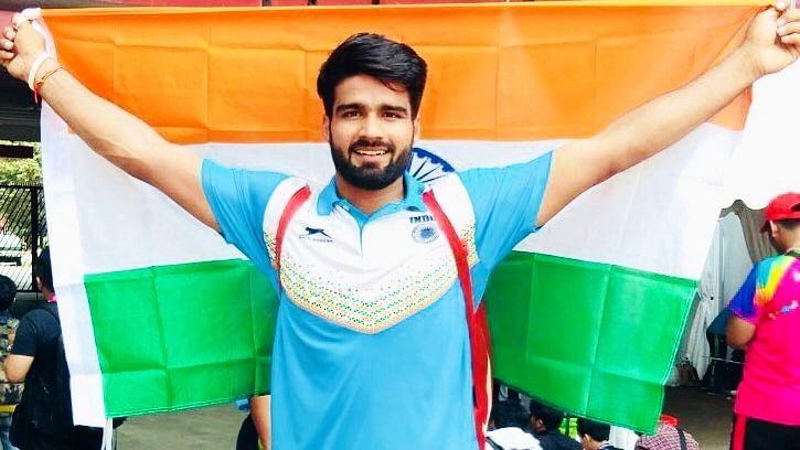 "<div class=""paragraphs""><p> Javelin thrower Sandeep Chaudhary at Asian Para Games.</p></div>"