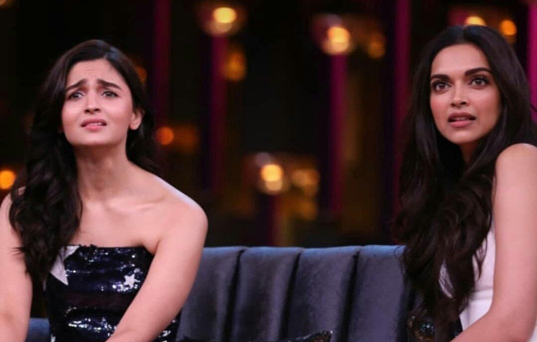 Alia and Deepika in the first episode of KWK 6.