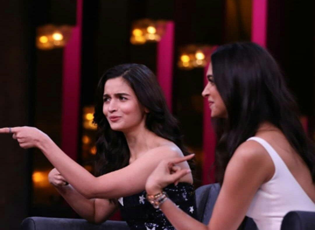 Both Alia and Deepika were at their candid best on the show.