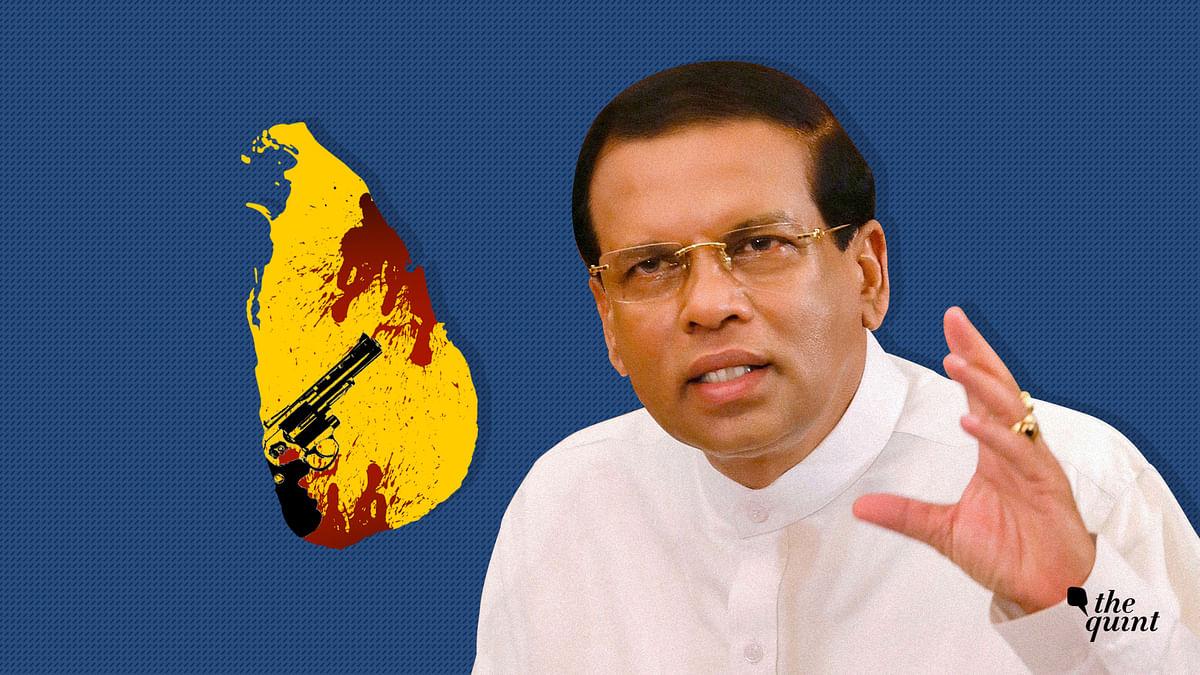 Image of Sri Lanka map and President Sirisena used for representational purposes.