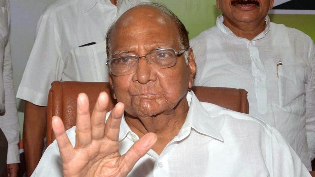 NCP Chief Sharad Pawar.