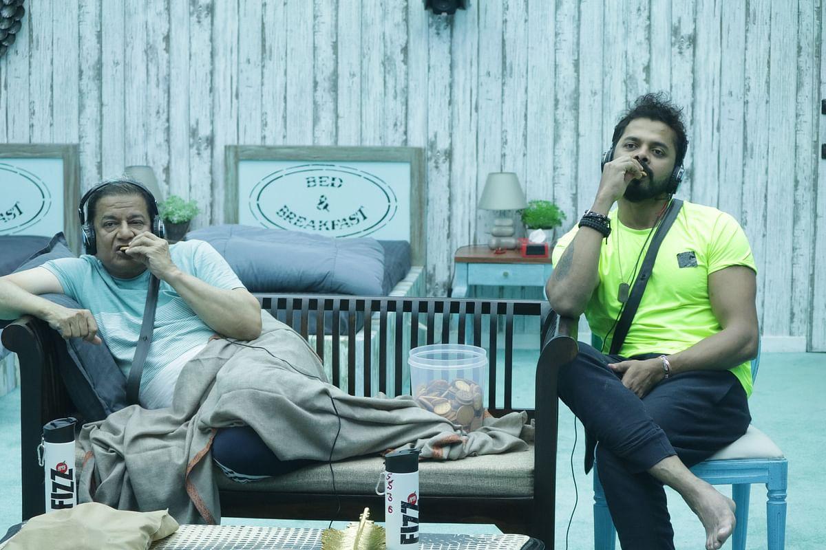 Anup Jalota and Sreesanth on <i>Bigg Boss 12</i>.