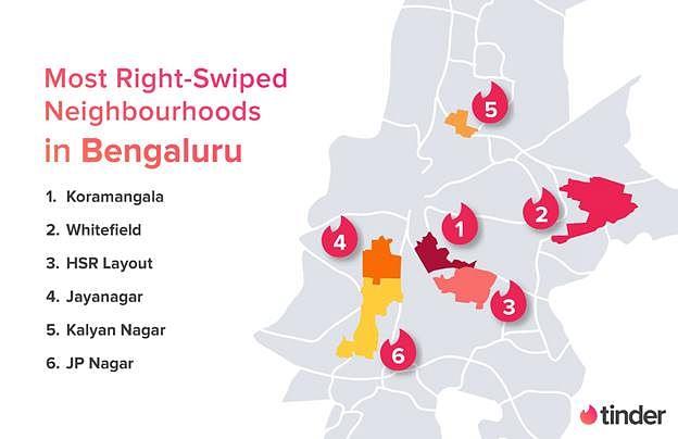 A look at Bengaluru's Tinder heat map.