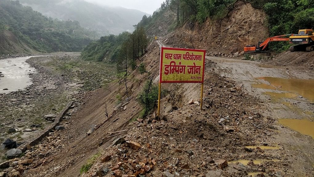 Contractors did not plan any debris dumping yards before the project started. It is deposited all over beside the road. The rains carry the debris down to the river.