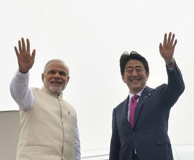 Prime Minister Narendra Modi and Japanese Prime Minister Shinzo Abe. (File Photo: IANS)