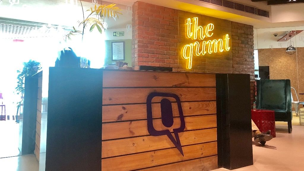 I-T officials visited The Quint's office in Noida on Thursday, 11 October.