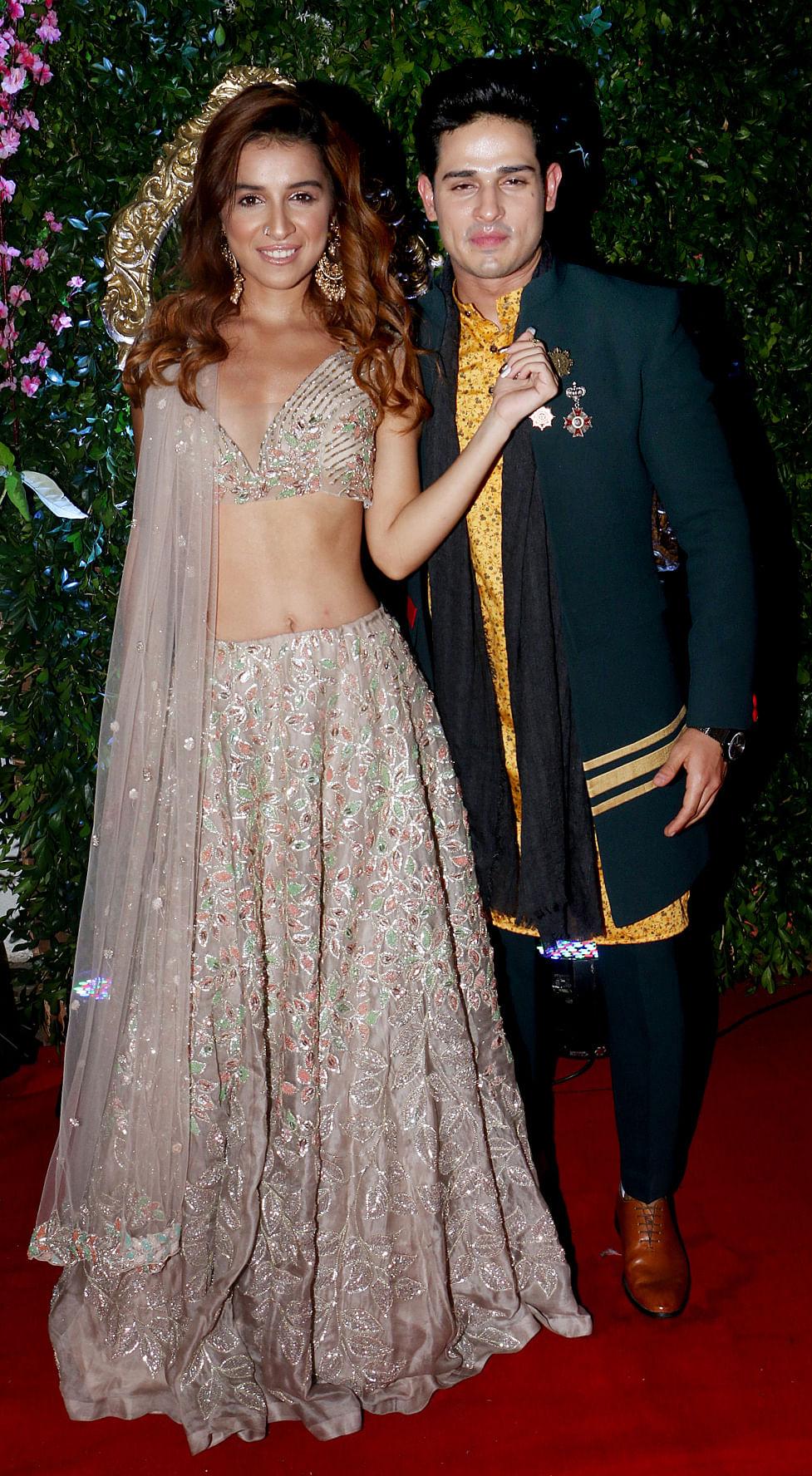 Ex-<i>Bigg Boss</i> contestants Priyank and Benafsha.