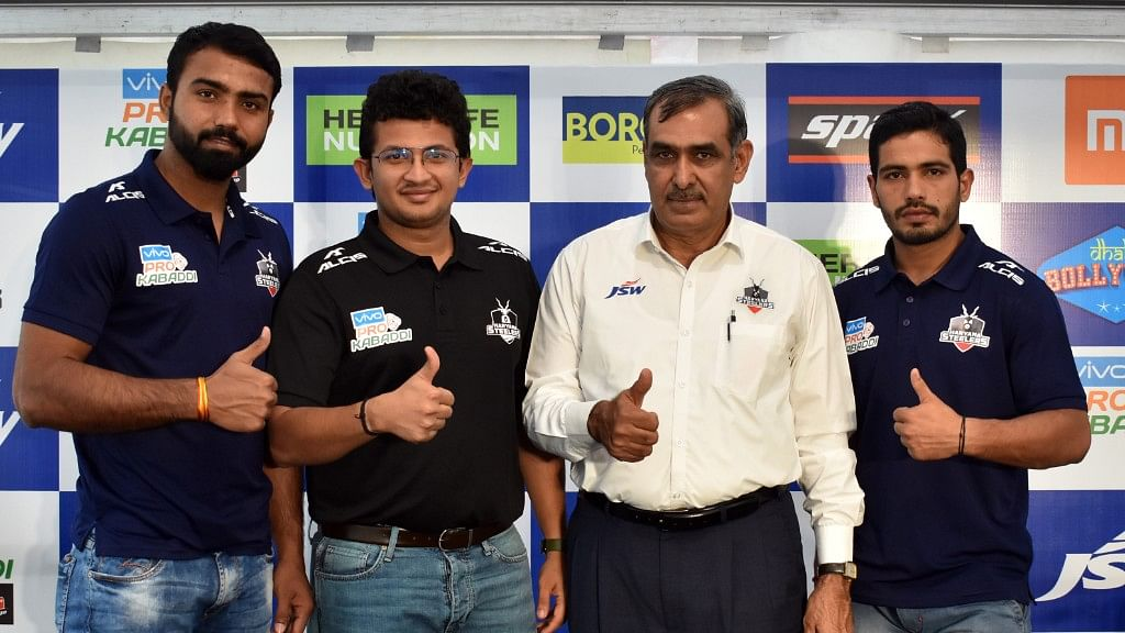 Monu Goyat (extreme left) expressed confidence to deliver in his new role and said there was no added pressure on him.