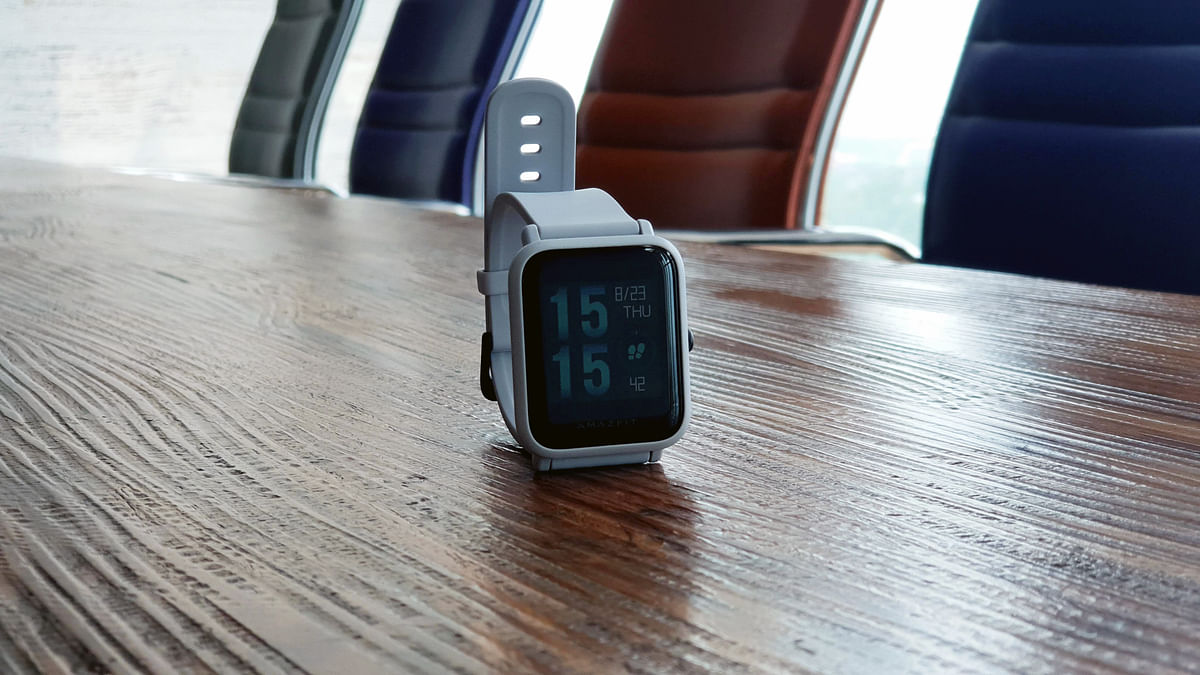 There is only one button on the Bip that can be used to navigate through the watch interface.