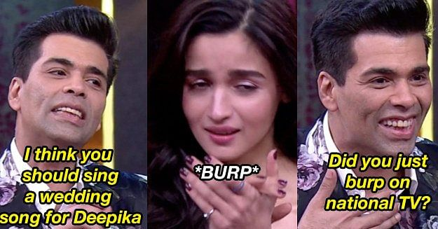 When Alia burped on national TV!