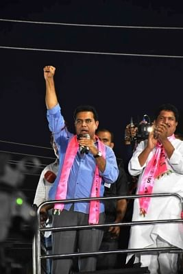 Two victims of police torture attempt self-immolation in KTR's rally