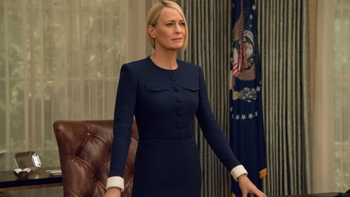 Robin Wright stars as US President Claire Underwood.