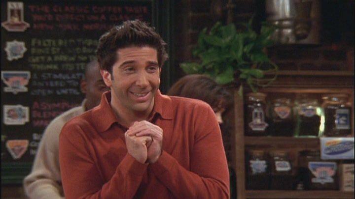 David Schwimmer as Ross Gellar in sitcom <i>Friends</i>.