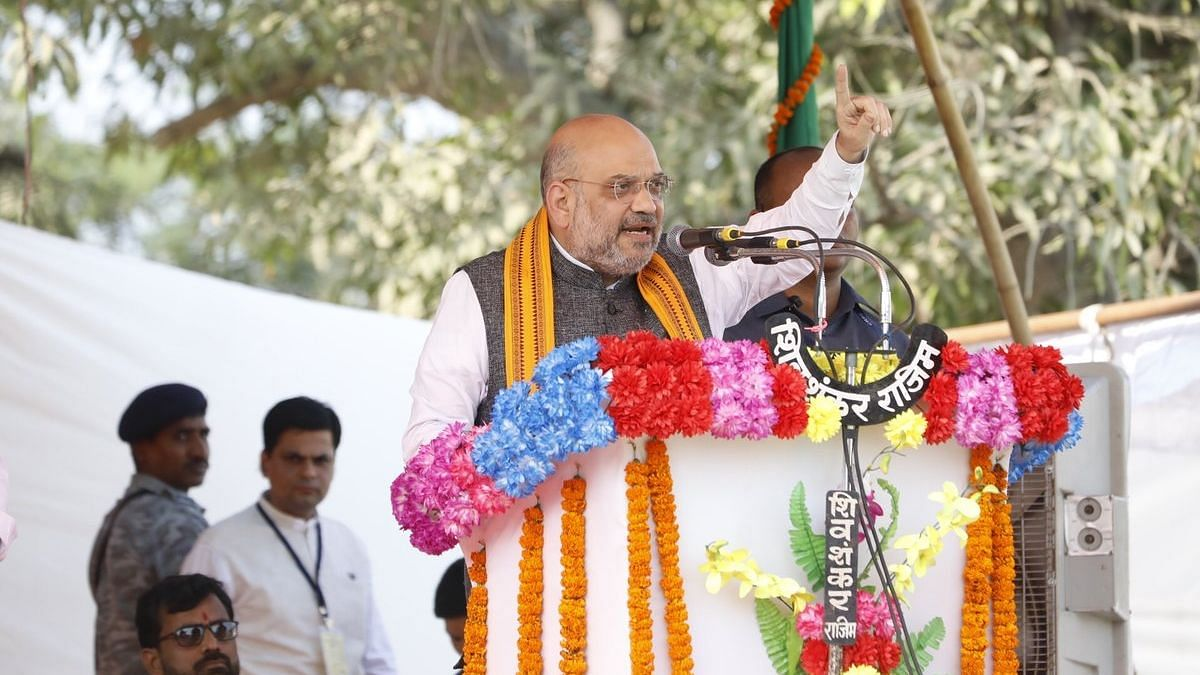 BJP President Amit Shah addressing a rally in Chhattisgarh.