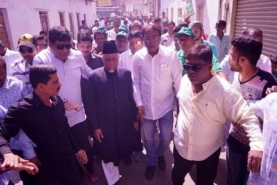 Hyderabad: AIMIM candidate from Yakutpura, Ahmed Pasha Qadri arrives to file his nomination for the upcoming Telangana Assembly elections in Hyderabad on Nov 14, 2018. (Photo: IANS)