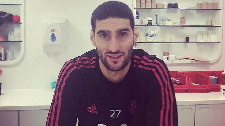 Marouane Fellaini shared a picture of his new haircut on Twitter.