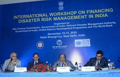 New Delhi: 15th Finance Commission Chairman N.K. Singh addresses at the