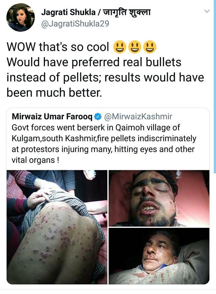 Lok Sabha TV's Jagrati Shukla Spews Hate Again With Tweet on J&K