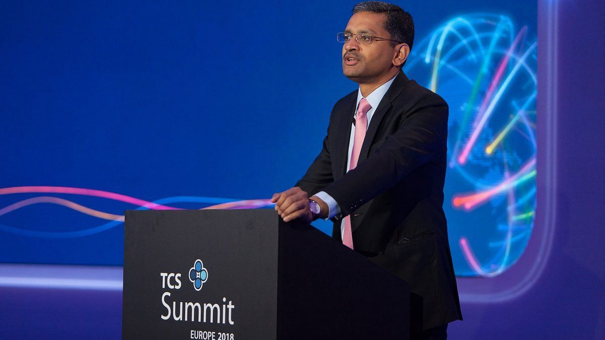 TCS CEO Rajesh Gopinathan used for representation.