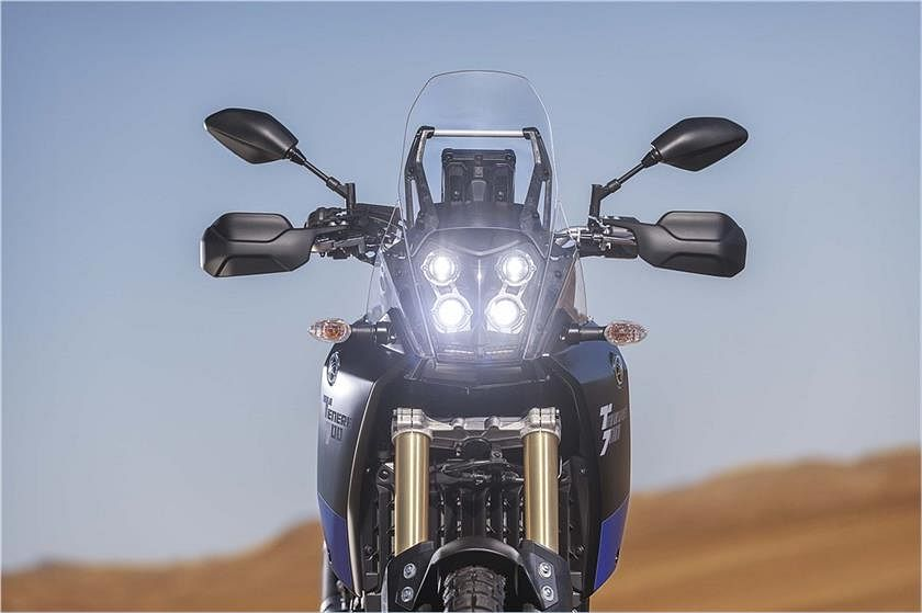 The Tenere 700 comes with a quad-LED headlamp.