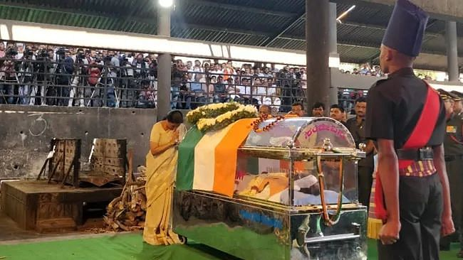 Ananth Kumar laid to rest.