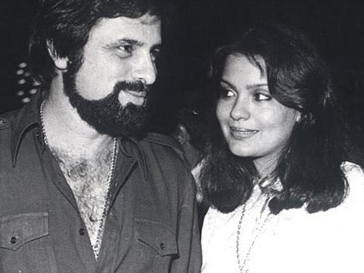 Zeenat Aman with Sanjay Khan.