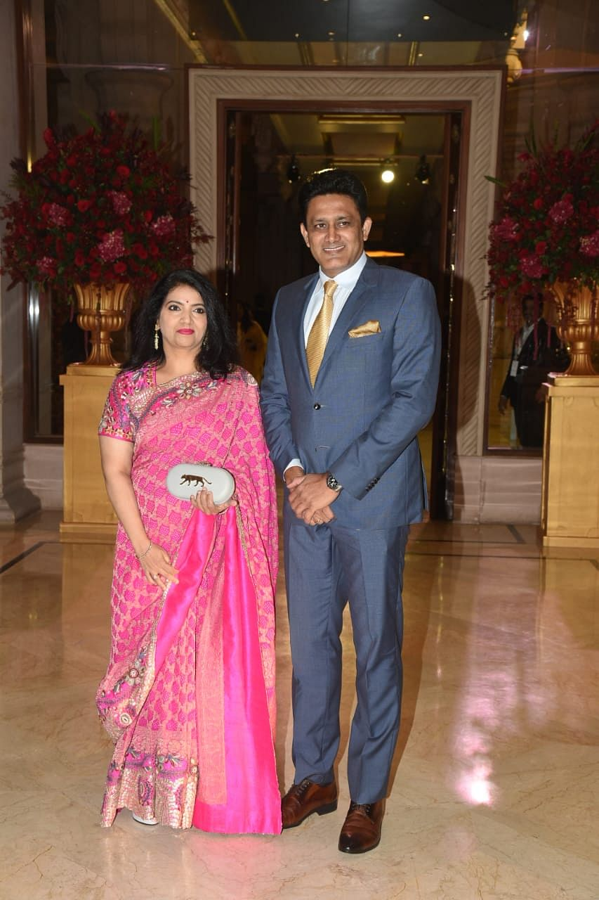 Anil Kumble and his wife make an appearance.