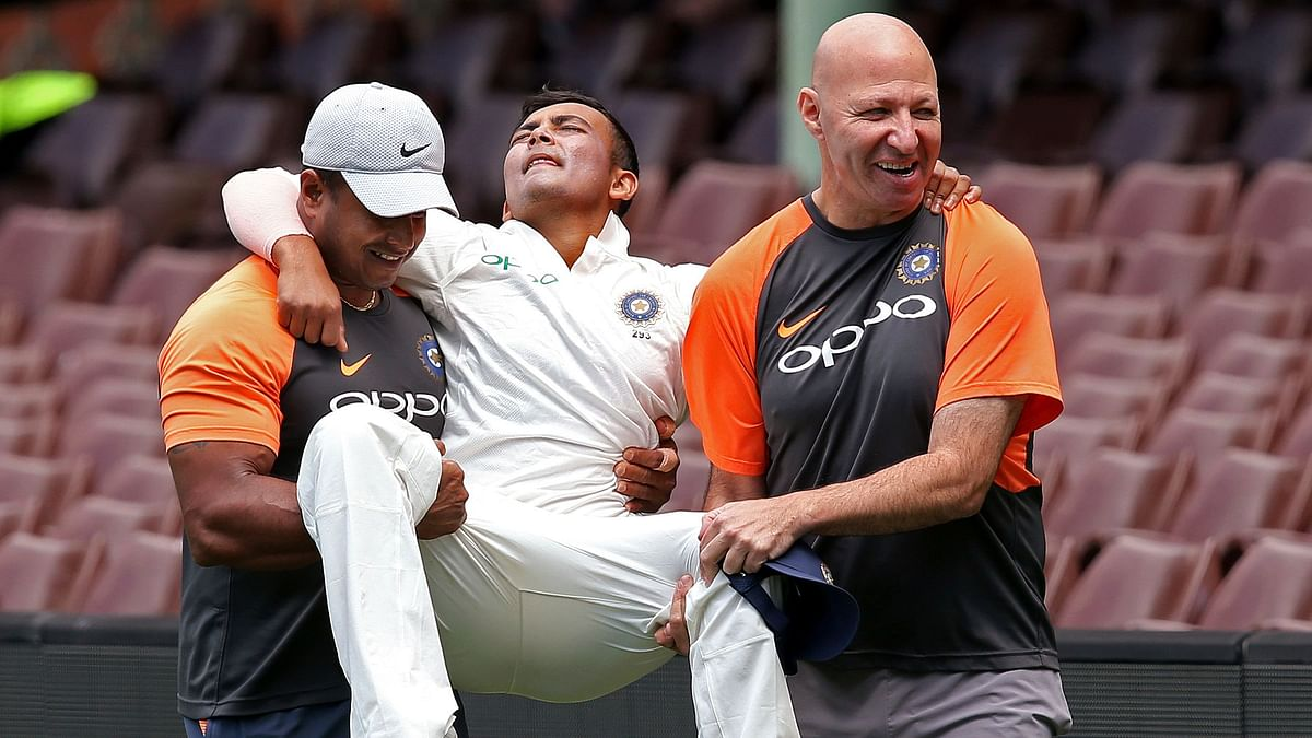Prithvi Shaw Ruled Out of 1st Test vs Australia With Ankle Injury