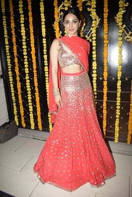 Mumbai: Actress Kiara Advani during a Diwali party hosted by Ekta Kapoor at her residence in Juhu, Mumbai on Nov 6, 2018. (Photo: IANS)