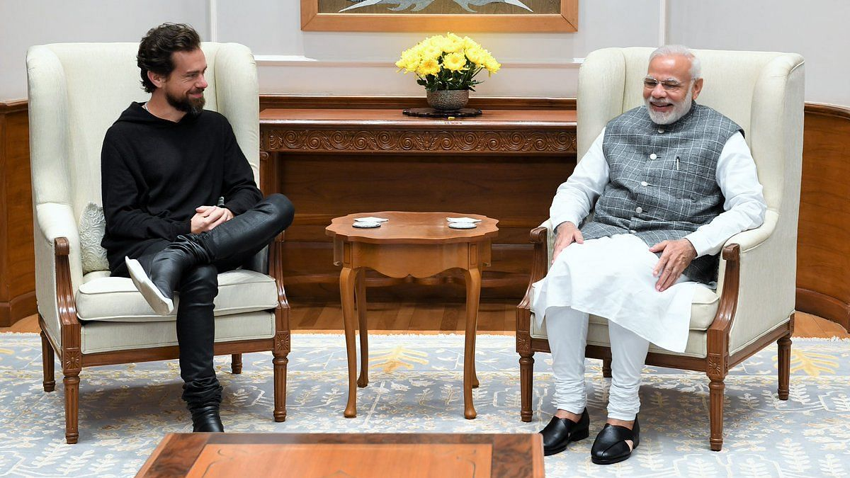 Photo of Twitter CEO Jack Dorsey and PM Narendra Modi.