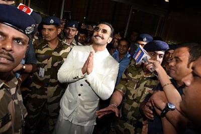 Mumbai: Actor Ranveer Singh arrives at Chhatrapati Shivaji International Airport as he leaves for his wedding with actress Deepika Padukone in Italy; in Mumbai on Nov 9, 2018. (Photo: IANS)