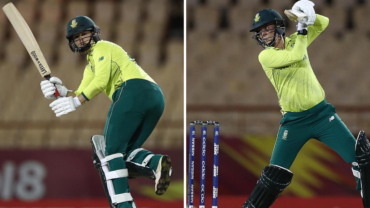 Dane van Niekerk (left) and Marizanne Kapp in action against Sri Lanka in the Women's World T20 on Monday.