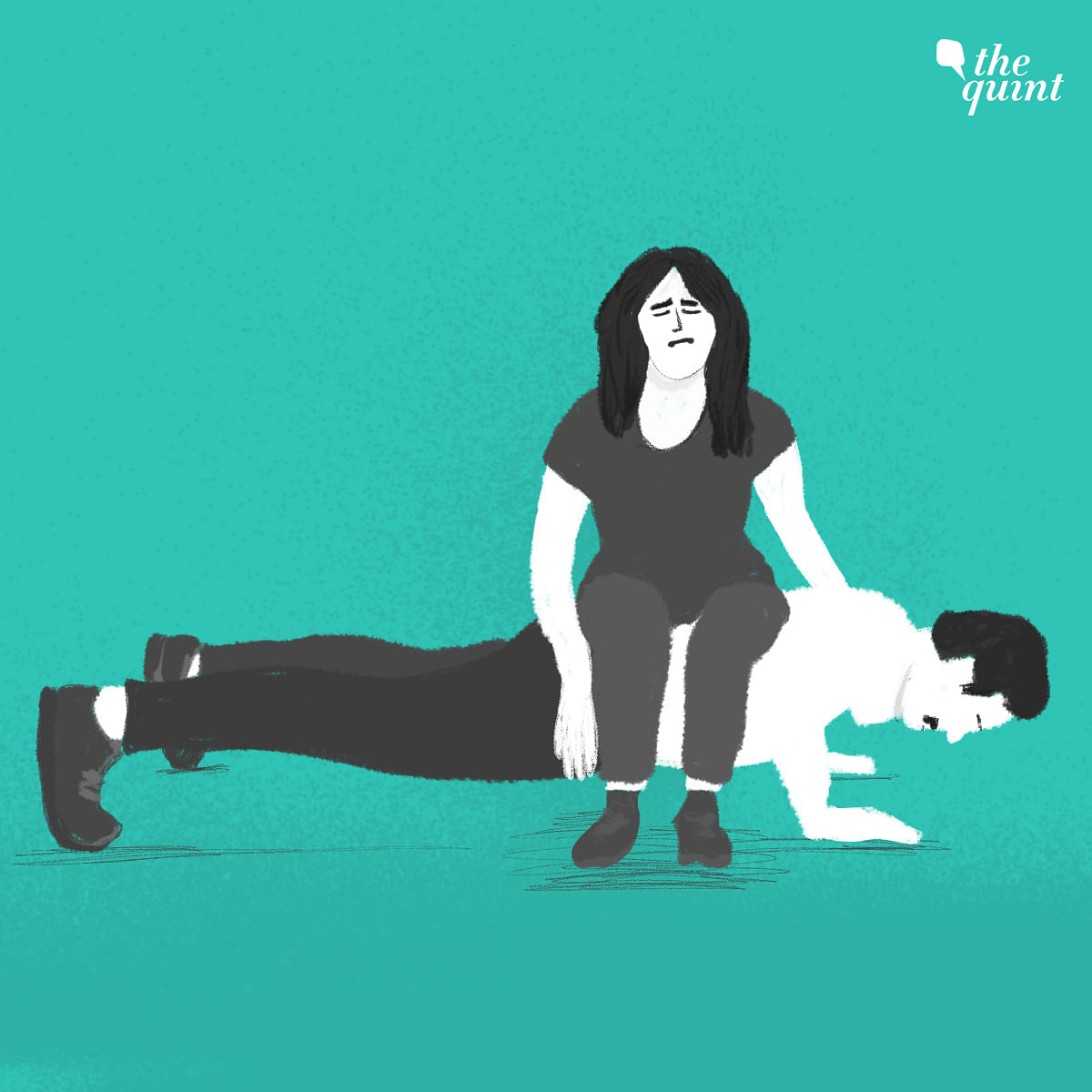 Apoorva has alleged that she was asked by her professor to act like his body weight during push-ups.