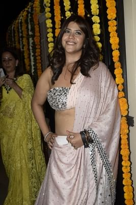 Mumbai: Filmmaker Ekta Kapoor hosted a Diwali party at her residence in Juhu, Mumbai on Nov 6, 2018. (Photo: IANS)