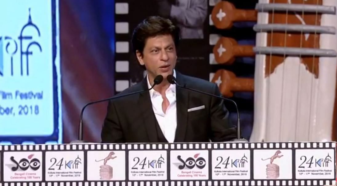 SRK gives keynote speech at KIFF.
