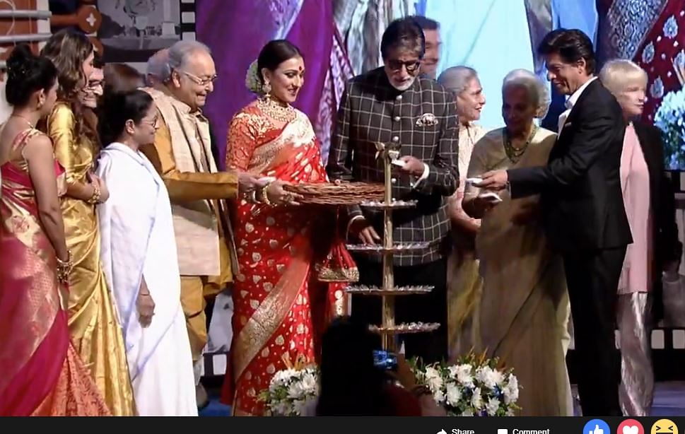 SRK and Amitabh with Mamta Banerjee at KIFF.