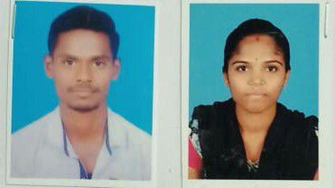 Nandesh, 25 (left) and Swathi.
