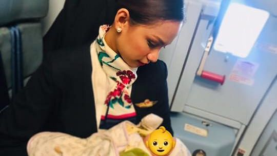 Flight Attendant Breastfeeds Passenger's Baby To Help a Mom