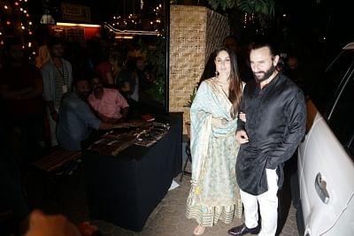 Actress Kareena Kapoor Khan along with her husband and actor Saif Ali Khan. (Photo: IANS)